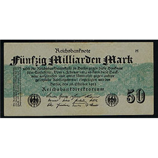 1923 - Germany PIC 125        50 Millons Marks XF banknote
