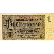 1937 -  Germany PIC 173b        1 Reichsmark banknote