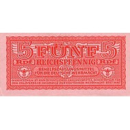1940 - Germany PIC M33          5 Reichsmarks  banknote