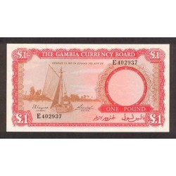 1962- Ghana Pic 2a 1Pound  banknote