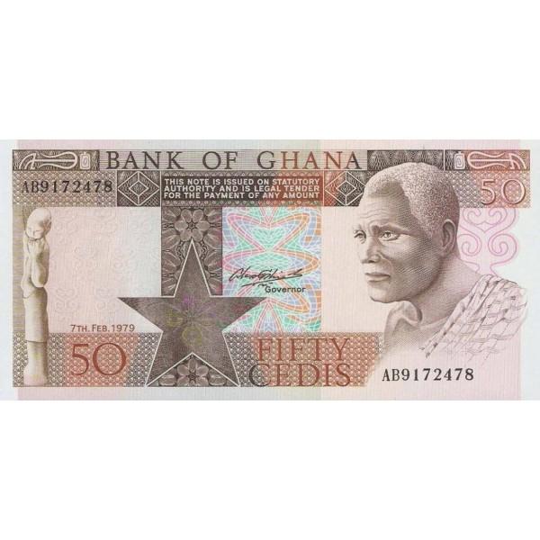 1979 - Ghana pic 22a billete 50 Cedis