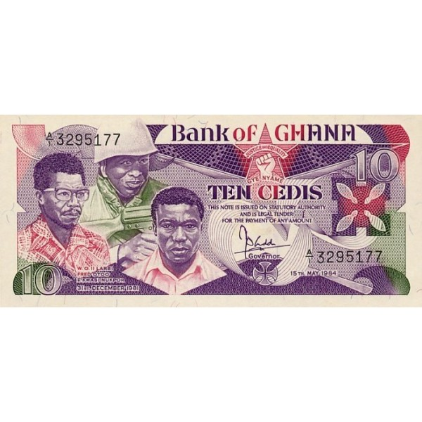 1984 - Ghana Pic 23  10 Cedis  banknote