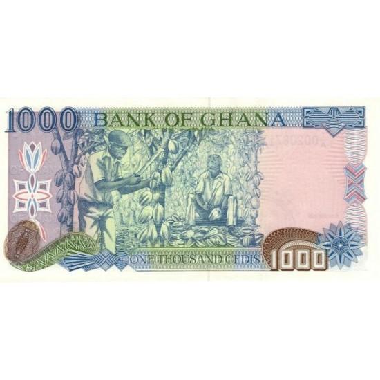 1996 - Ghana Pic 29b 1000 Cedis  banknote