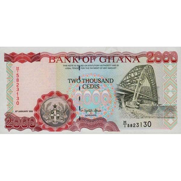 1995- Ghana pic 30b billete 2000 Cedis
