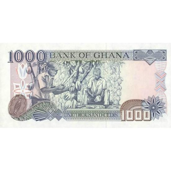 2001 - Ghana Pic 32f 1000 Cedis  banknote   9/2001