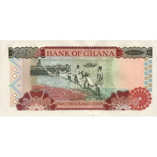1996- Ghana Pic 33a 2000 Cedis  banknote