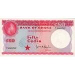 1965- Ghana Pic 8a 50 Cedis  banknote