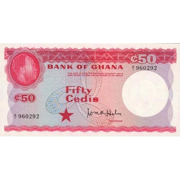 1965- Ghana pic 8a billete 50 Cedis