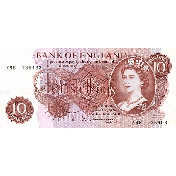 1966/70 - Great Britain PIC 373c   10 Sillings banknote