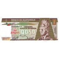 1985 - Guatemala P65 1/2 Quetzal banknote