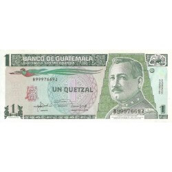1992/february - Guatemala P73d 1 Quetzal banknote