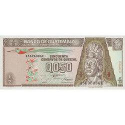 1994 - Guatemala P86b 1/2 Quetzal banknote