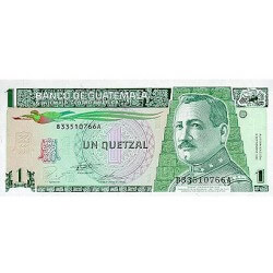 1995 - Guatemala P87 1 Quetzal banknote