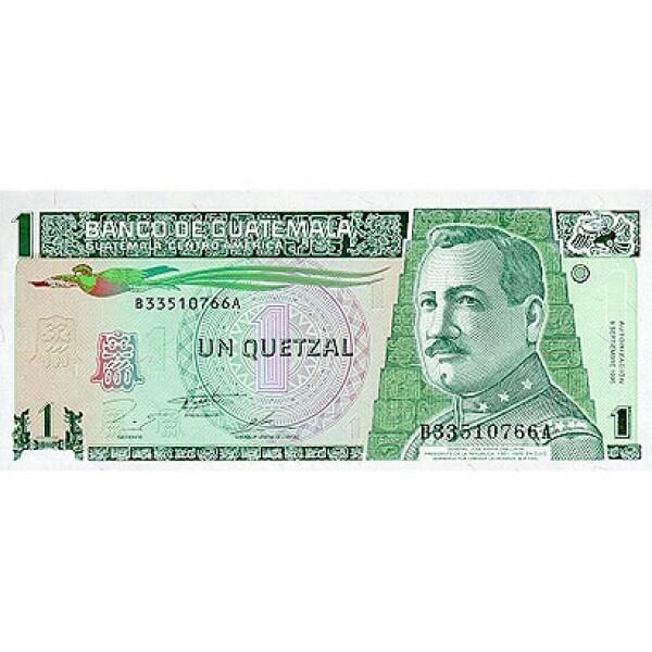 1995 - Guatemala P87 billete de 1 Quetzal