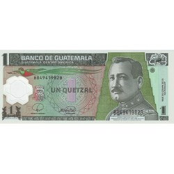 2008 - Guatemala P115 1 Quetzal banknote