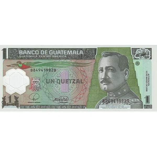 2008 - Guatemala P115 billete de 1 Quetzal