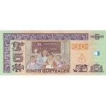 2008 - Guatemala P116 billete de 5 Quetzal