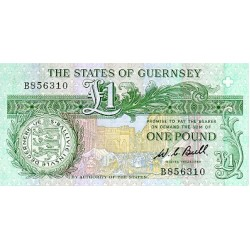 1980/89 - Guernsey PIC 48a      1 Pound banknote