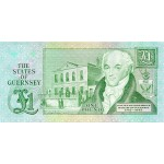 1980/89 - Guernsey PIC 48a      1 Pound banknote