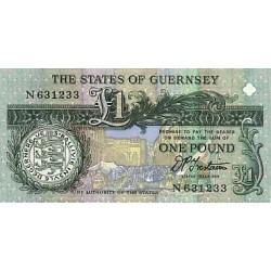 1991 -  Guernsey PIC 52b    1 Pound banknote