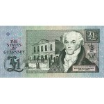 1991 - Guernsey PIC 52c     1 Pound  banknote