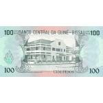 1990- Guinea Bissau Pic 11  100 Pesos  banknote