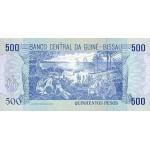 1990- Guinea Bissau Pic 12  500 Pesos  banknote