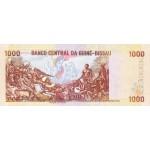 1993- Guinea Bissau Pic 13b 1000 Pesos  banknote