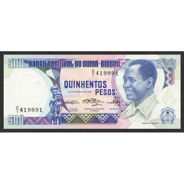 1983- Guinea Bissau Pic 7  500 Pesos  banknote