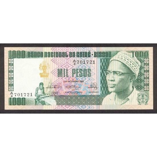 1978- Guinea Bissau Pic 8b 1000 Pesos  banknote