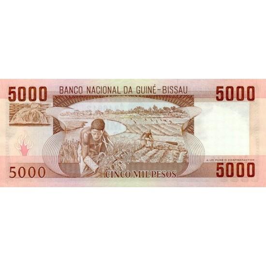 1984- Guinea Bissau Pic 9  5000 Pesos  banknote