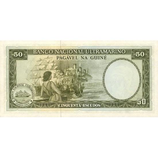 1971- Portuguese Guinea pic 44  50 Escudos banknote