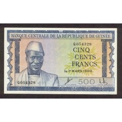 1960 - Guinea  pic 14   500 Francs banknote