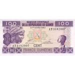 1985- Guinea  pic 30   100 Francs banknote
