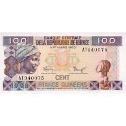 1998- Guinea  pic 35   100 Francs banknote