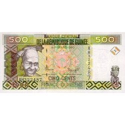 1998- Guinea  pic 36   500 Francs banknote