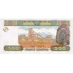 1998 -  Guinea pic 36 billete de 500 Francos