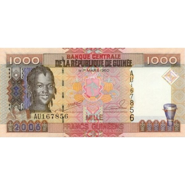 2006 - Guinea  pic 40   1000 Francs banknote