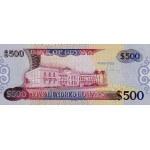 2002 - Guyana P34b billete de 500 Dólares