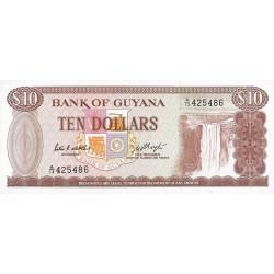 1989 - Guyana P23d 10 Dollars banknote f.6