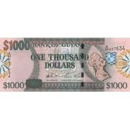 2006 - Guyana P39 1,000 Dollars banknote