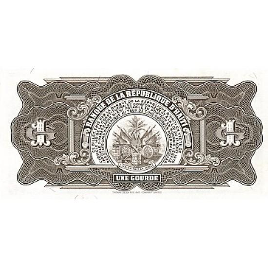 1984 - Haiti P239 1 Gourde banknote