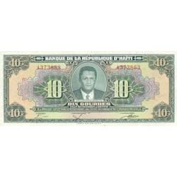 1984 - Haiti P242 10 Gourdes banknote
