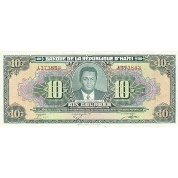 1984 - Haiti P242 billete de 10 Gourdes
