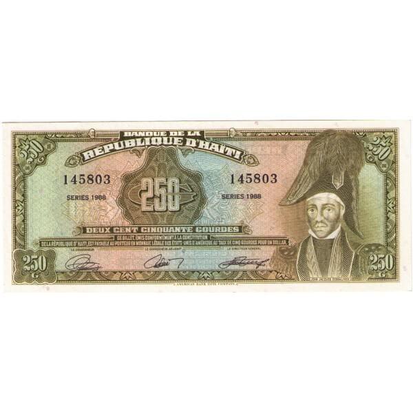 1988 - Haiti P251 billete de 250 Gourdes