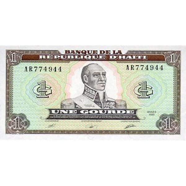 1989 - Haiti P253 billete de 1 Gourde