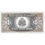 1989 - Haiti P253 1 Gourde banknote