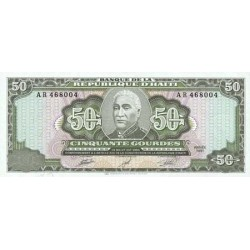 1991 - Haiti P257 50 Gourdes banknote