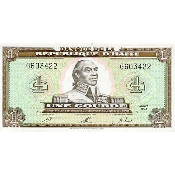 1992 - Haiti P259 billete de 1 Gourde