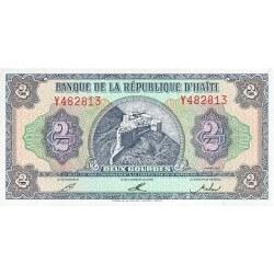 1992 - Haiti P260 billete de 2 Gourdes